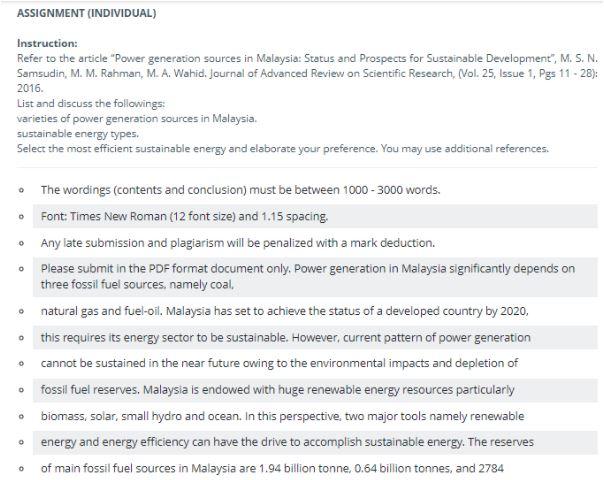 renewable energy academic assistance through online tutoring assignment task sample