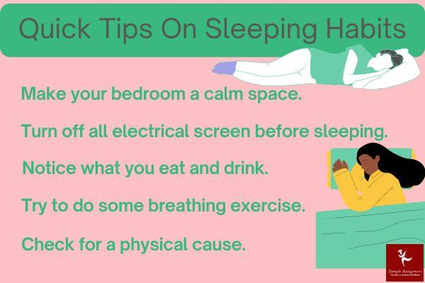 sleeping habit tips