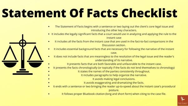 statement of facts checklist