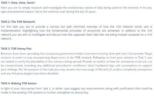tor network assignment help sample