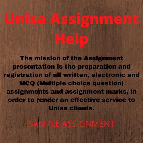 unisa assignment help