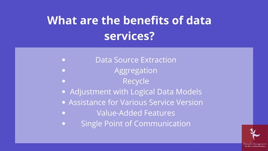what are the benefits of data services