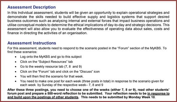 worcester university assessment description