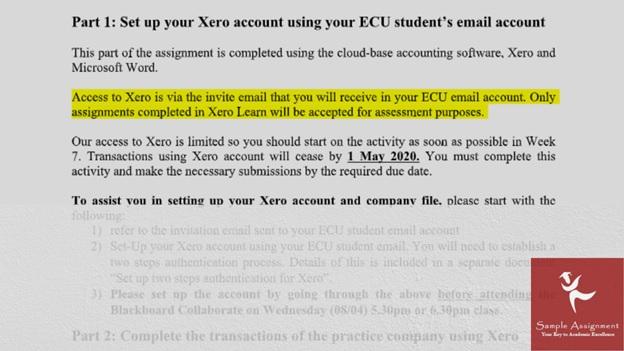 XERO academic assistance through online tutoring service sample