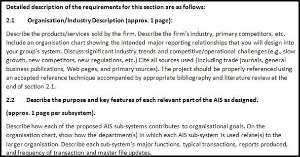 accounting systems and processes homework sample description