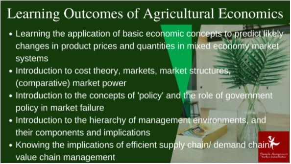 agricultural economics assignment