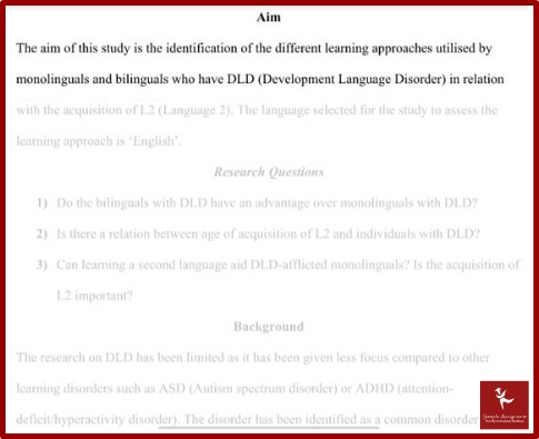 applied linguistics and TESOL assignment sample service
