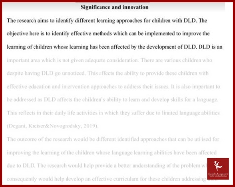 applied linguistics and TESOL assignment sample signification and innovation
