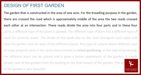 arts london university assignment design of first garden