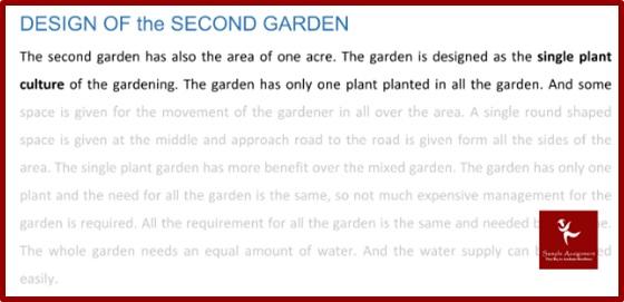 arts london university assignment design of the second garden