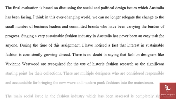 bachelor of branded fashion design assignment answer online