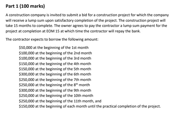 building and construction assignment question online