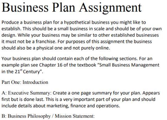 business administration entrepreneurship and small business homework sample