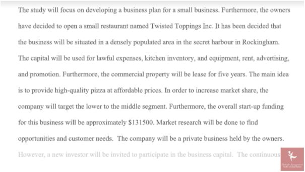 business administration entrepreneurship and small business homework solution