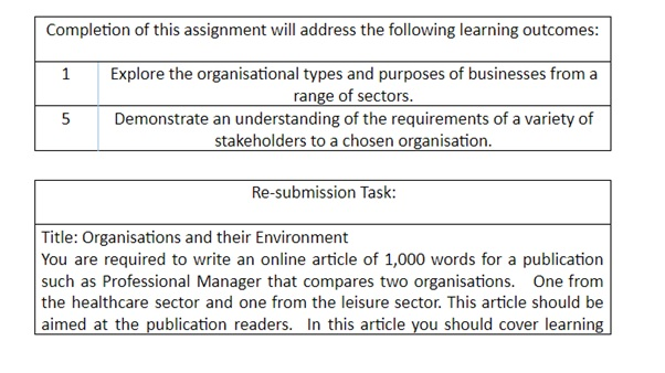 business environment assignment sample