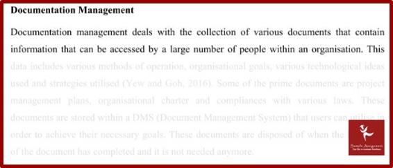 business record management homework documentation sample