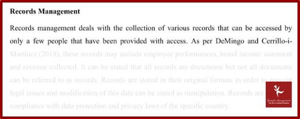 business record management homework help sample