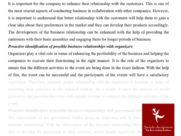 business relations homework writing sample services