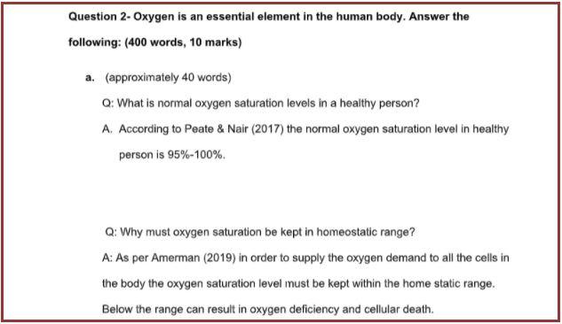 cardiovascular physiology homework sample