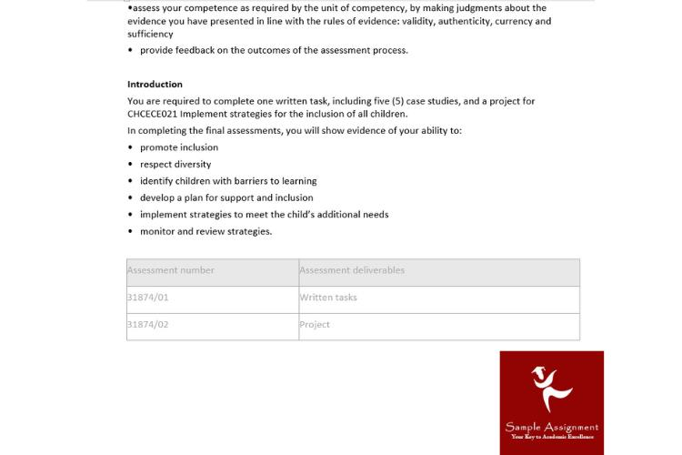certificate 3 childcare assignment answers