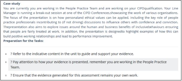 cipd level 3 foundation certificate in people practice sample