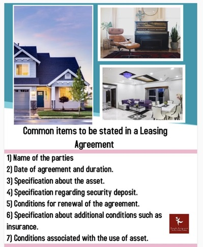 common items to be stated in a leasing agreement