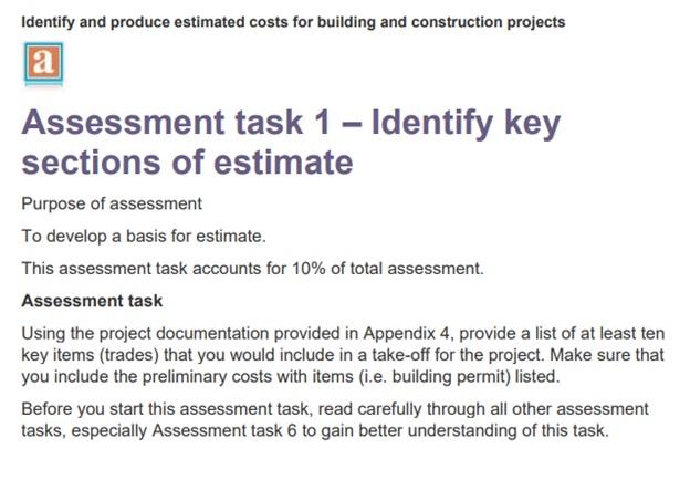 construction dissertation assessment task