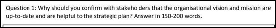 develop and implement strategic plans homework sample question