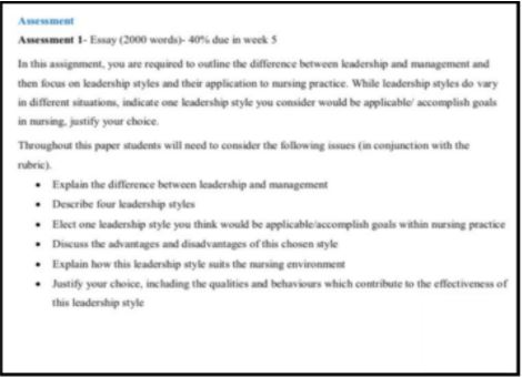 diploma of leadership and management sample