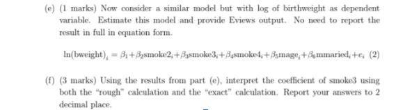 econometrics homework help sample question online