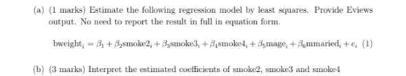 econometrics homework help sample question