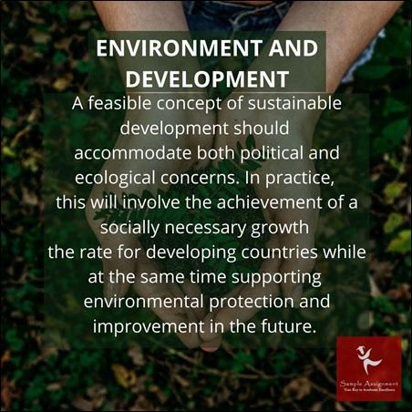 environment and development homework help