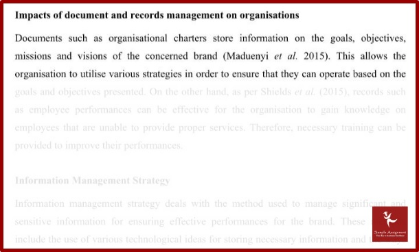 impacts of document and records management on organisation