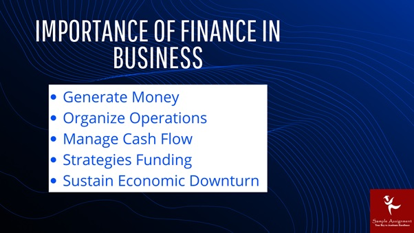 importance of finance in business