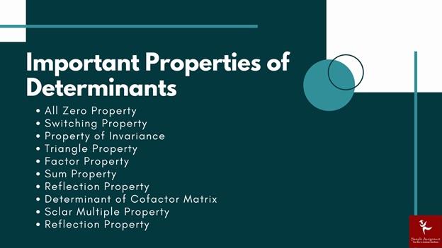 importance properties of determinants