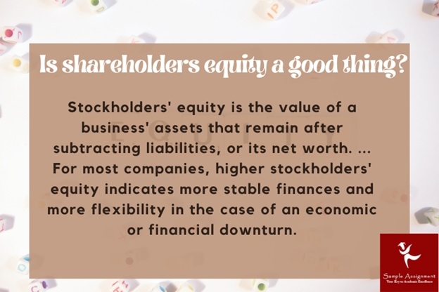 is shareholders equity a good thing