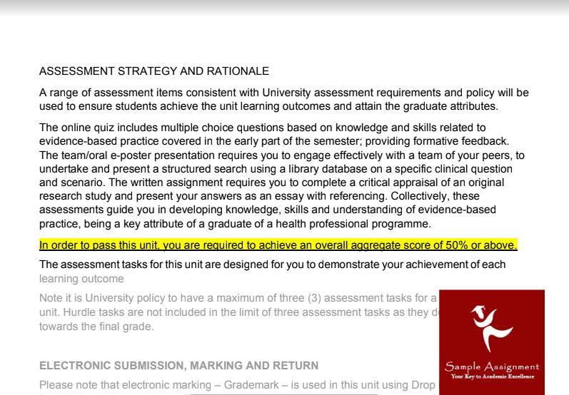 la trobe university assignment sample