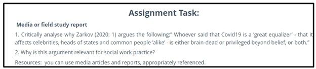 linguistics assignment sample task