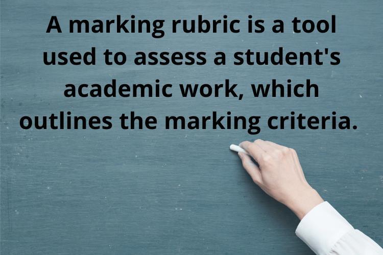 marking rubric tool