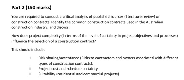 online building and construction sample assignment question
