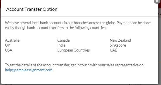 pay via account transfer
