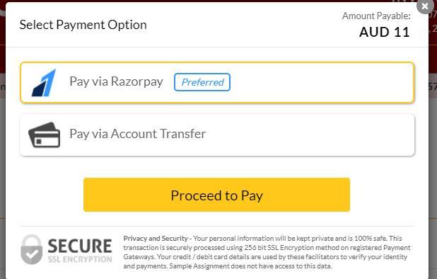 pay via transfer