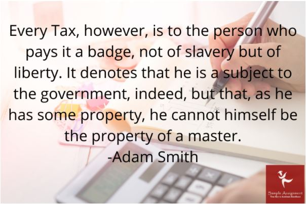 principal of taxation assignment