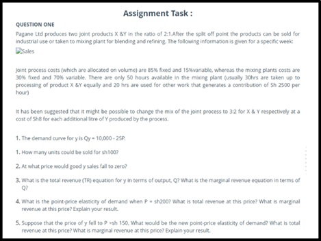 production function managerial sample assignment task