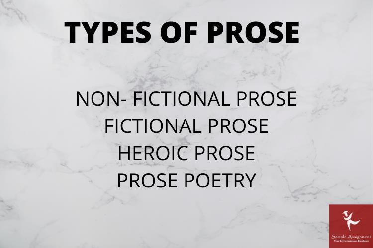prose types