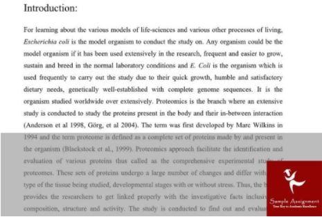 proteomics assignment help sample online