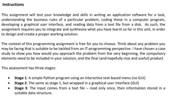 python gui assignment help sample
