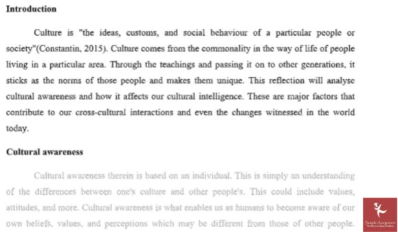 sample cultural studies homework help