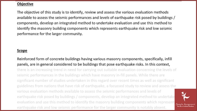 sample earthquake engineering assignment solved by our writers