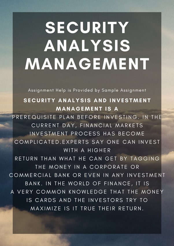 security analysis management assignment help